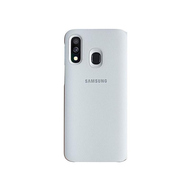 Husa tip Book Samsung Wallet Cover EF-WA405PWEGWW Galaxy A40 (2019) Alba Samsung - 1