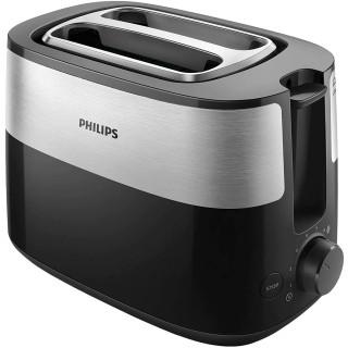 Prajitor de paine Philips HD2515/90 830W 2 fante variabile functie dezghetare 8 setari Negru Philips - 1