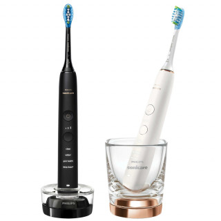 Set 2 Periute Electrice Philips Sonicare DiamondClean 9000 HX9914/57, BrushSync, Senzor Presiune, Negru / Rose Philips - 1