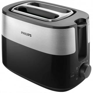 Prajitor de paine Philips HD2516/90 830W 2 fante variabile functie dezghetare grilaj incalzire integrat 8 setari Negru Philips -