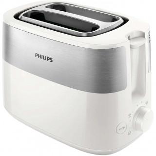 Prajitor de paine Philips HD2516/00 830W 2 fante functie dezghetare control variabil Alb/Inox Philips - 1