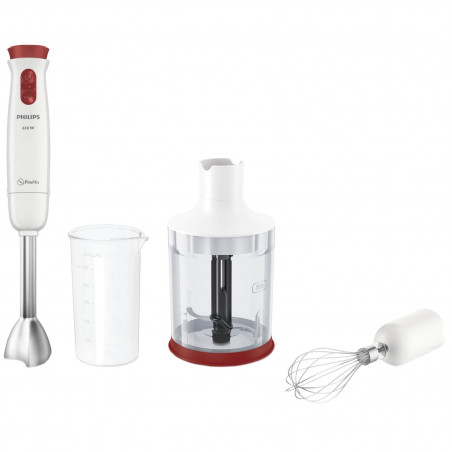 Mixer vertical Philips Daily Collection HR1627/00 650W 2 Viteze Functie Turbo 0.5l Tocator XL Alb/Rosu Philips - 1