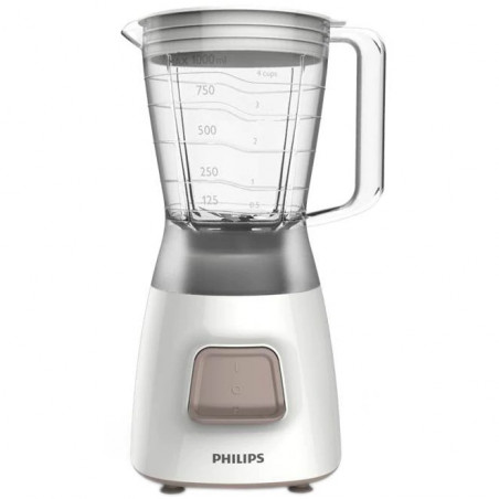 Blender Philips Daily Collection HR2052/00 450W 1.25l 1viteza Pulse Alb Philips - 1
