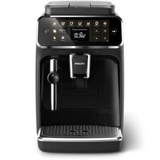 Espressor automat Philips EP4321/50, 5 bauturi, Sistem clasic de spumare a laptelui, Rasnita ceramica, Filtru AquaClean, Negru P