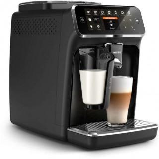 Espressor automat Philips LatteGo EP4341/50, 8 bauturi, 12 setari de macinare , Rasnita ceramica, 2 profiluri, AquaClean, Negru