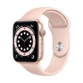 Apple Watch 6 GPS Gold Carcasa Aluminium 44mm Pink Sand Sport Band Apple - 1