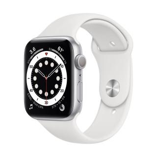Apple Watch 6 GPS Silver Carcasa Aluminium 44mm White Sport Band Apple - 1