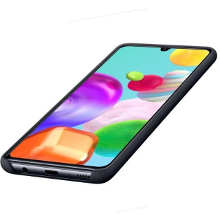 Husa Spate Samsung Silicone Cover EF-PA415TBEGEU Galaxy A41 Neagra Samsung - 3
