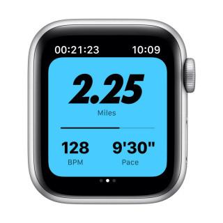 Apple Watch SE Nike GPS Silver Carcasa Aluminium 40mm Pure Platinum/Black Nike Sport Band Apple - 4