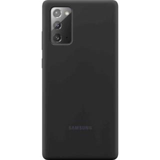 Husa de protectie Samsung Silicone pentru Galaxy Note20 Black Samsung - 1