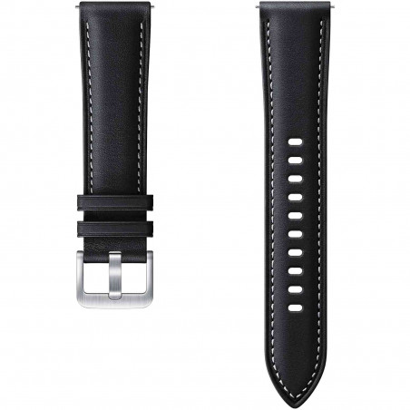 Curea Ceas Smartwatch Samsung Galaxy Watch3 Stitch Leather 20mm S M Black Samsung - 1