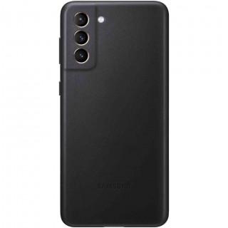 Husa de Protectie Samsung Leather Cover pentru Galaxy S21 Plus Black Samsung - 1