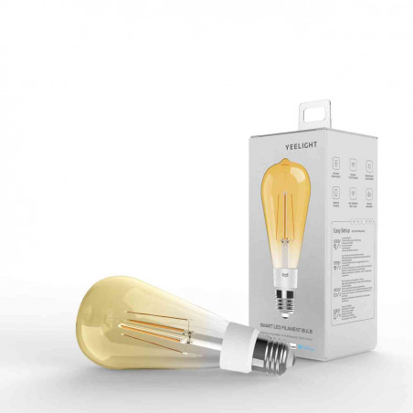 Bec LED Vintage Inteligent Yeelight ST64 YLDP23YL Wi-Fi 6W Lumina calda (2700K) Compatibil Android/iOS Yeelight - 1