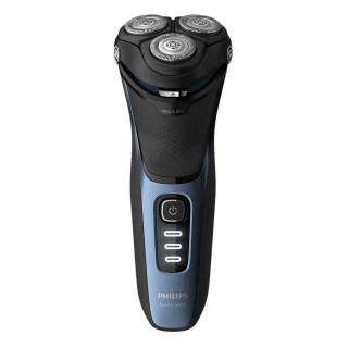 Aparat de Barbierit Electric Philips Seria3000 S3232-52 Umed si Uscat Lame PowerCut B Capete 5D Flex 3 LED Negru Albastru Philip