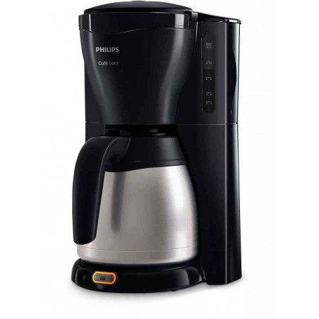 Cafetiera Philips Gaia HD7544-20 1000W Vas Termorezistent din Otel Inoxidabil 1,2L Sistem Anti-Picurare Negru Philips - 1