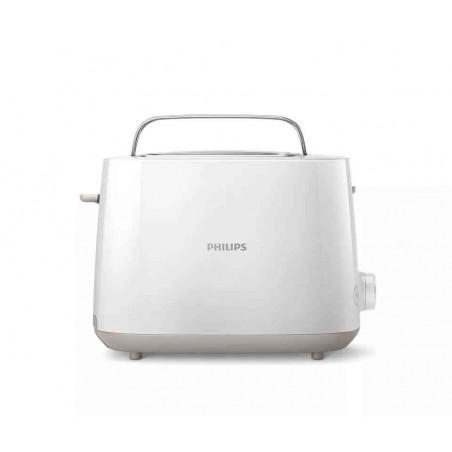 Prajitor de Paine Philips HD2581-00 750W 2 felii 8 Setari Rumenire Grill Functie Reincalzire si Dezghetare Alb Philips - 1