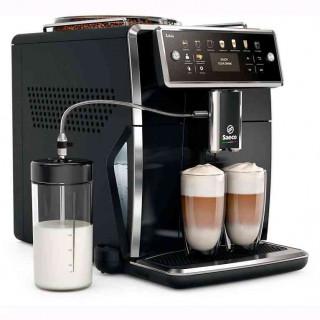 Espressor Automat Saeco Xelsis SM7580-00 Sistem Latteduo 12 Selectii Rasnita Ceramica cu 12 Trepte AquaClean Afisaj LCD Negru Sa