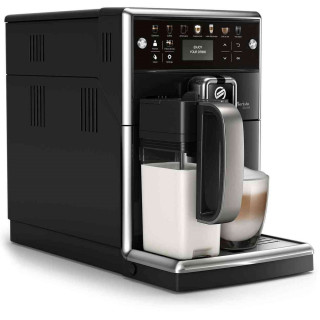 Espressor Automat Saeco PicoBaristo Deluxe SM5570-10 Carafa pentru Lapte Integrata Rasnita Ceramica AquaClean 1.7l Negru Saeco -