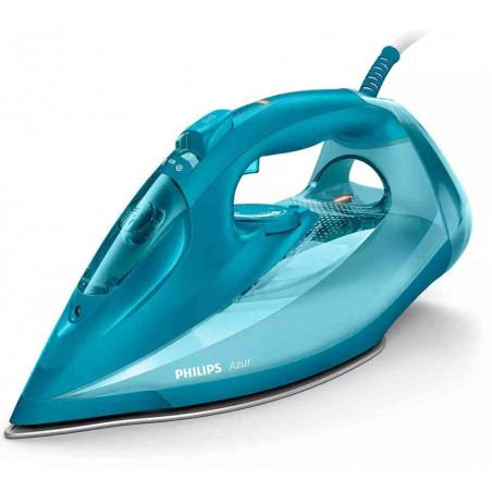 Fier de Calcat Philips Azur GC4558-20 Talpa SteamGlide Plus 2600W 50 g-min 230g Decalcifiere Rapida Albastru Philips - 1