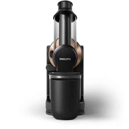 Storcator de Fructe si Legume prin Presare la Rece Philips Viva Collection HR1888-70 150W Capacitate Vas 1L Negru Auriu Philips
