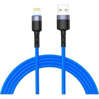 Cablu Tellur Lightning cu LED 3A Nailon 1.2m Albastru Tellur - 1