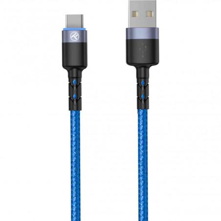 Cablu Tellur Type-C cu LED 3A Nailon 1.2m Albastru Tellur - 1