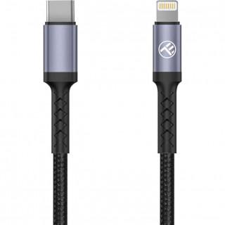Cablu Tellur Type-C to Lightning 2A PD18W 1m Nailon Negru Tellur - 1