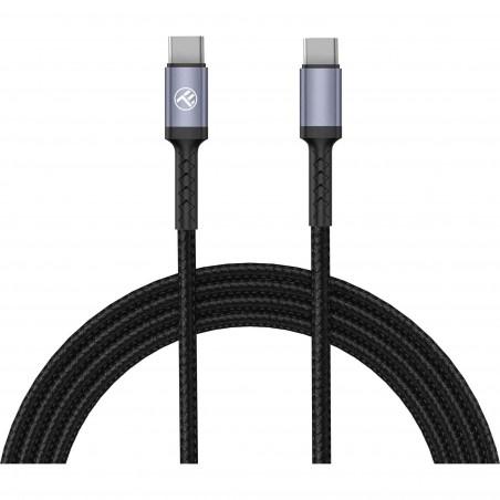 Cablu Tellur Type-C to Type-C 3A PD60W 1m Nailon Negru Tellur - 1
