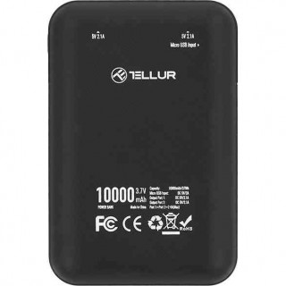 Baterie Externa Tellur TLL158141 10000mAh Compacta PBC2 Negru Tellur - 1