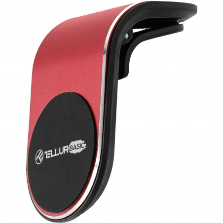 Suport Magnetic de Telefon pentru Ventilatie Tellur Basic MCM7 Rosu Tellur - 1