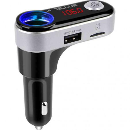 Modulator FM Tellur FMT-B2 Bluetooth MicroSD USB pentru Incarcare Dispozitive Negru Tellur - 1