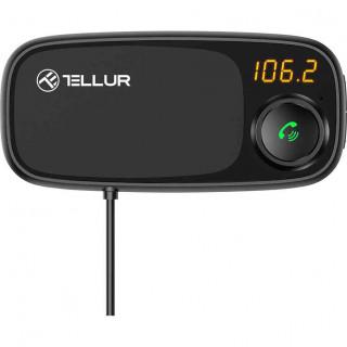 Modulator FM Tellur FMT-B6 cu Suport Magnetic pentru Telefon Bluetooth MicroSD 2 x USB Microfon Negru Tellur - 1