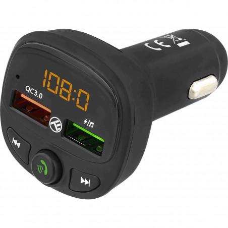 Modulator FM Bluetooth Tellur FMT-B7 USB MicroSD QC 3.0 Negru Tellur - 1