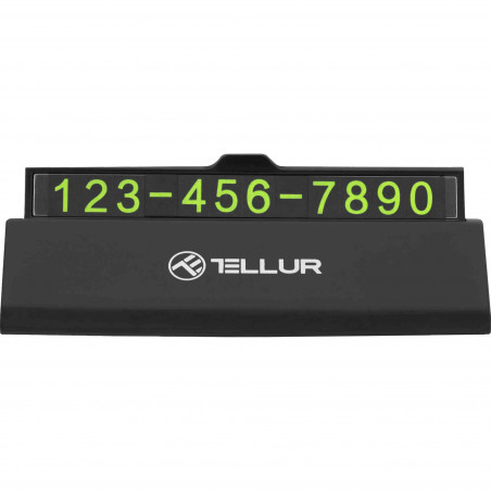 Suport Auto Numar de Telefon Tellur Negru Tellur - 1