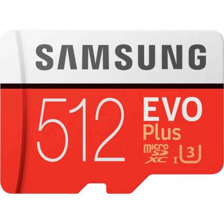 Card Memorie Samsung MicroSDXC EVO Plus MB-MC512HA 512GB UHS-1 U3 2020 Clasa 10 - cu Adaptor SD Samsung - 1