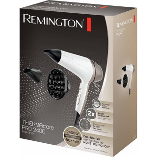 Uscator de Par Remington Thermacare Pro 2400 D5720 2200W Generator de Ioni 3 Trepte de Temperatura 2 Viteze Alb Remington - 1