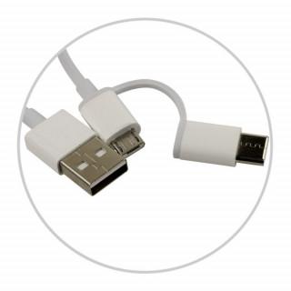 Cablu de date Xiaomi Mi 2-in-1 Micro USB si Type C 30cm White Xiaomi - 3