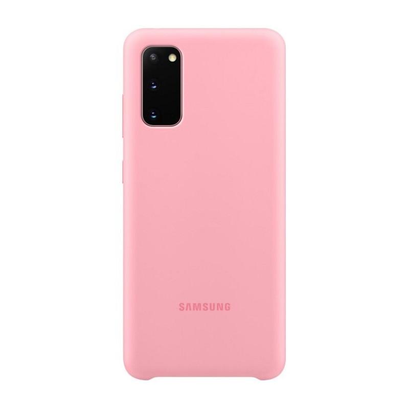 Husa Samsung Silicone Cover EF-PG980TPEGEU Galaxy S20 Roz Samsung - 1