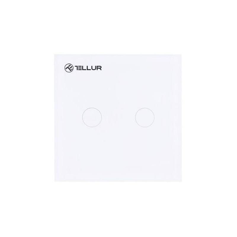Intrerupator Dublu cu Touch Tellur Wireless 1800W White Tellur - 1