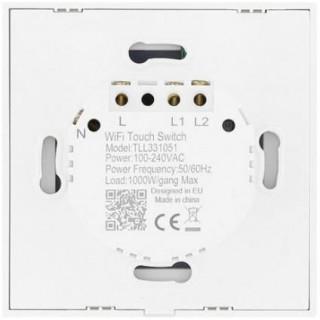 Intrerupator Dublu cu Touch Tellur Wireless 1800W White Tellur - 3