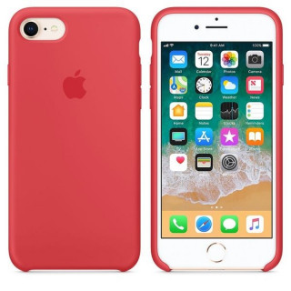 Husa Apple Silicone Case MRFQ2ZM/A iPhone 8/iPhone 7 Red Raspberry Apple - 2