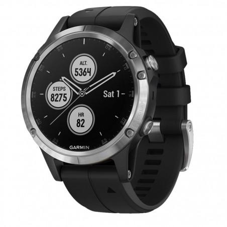 Smartwatch Garmin Fenix 5 Plus GPS Silver Silicone Black Garmin - 1
