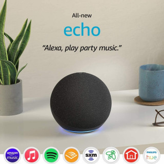 Boxa Smart Amazon Echo 4 Generation cu Alexa Dolby Audio White Amazon - 1