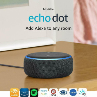 Boxa Smart Amazon Echo Dot 3 Alexa Bluetooth Wi-Fi Charcoal Amazon - 3