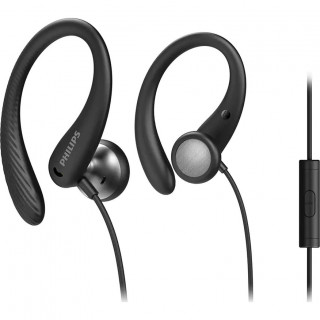 Casti Philips TAA1105BK/00 in-ear Sport, Microfon Black Philips - 1