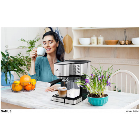 Espressor Samus Latte-Gusto 1350 W 20 Bar 1.8 l Black - Inox Samus - 1