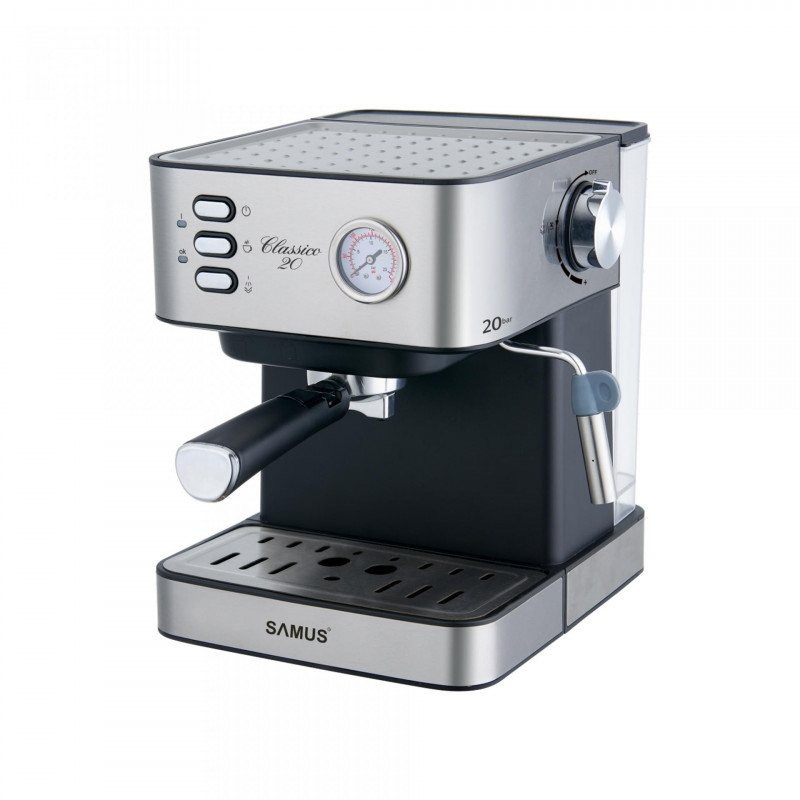 Espressor Samus Classico 20 dispozitiv spumare 20 bari 1600ml Black -Inox Samus - 1