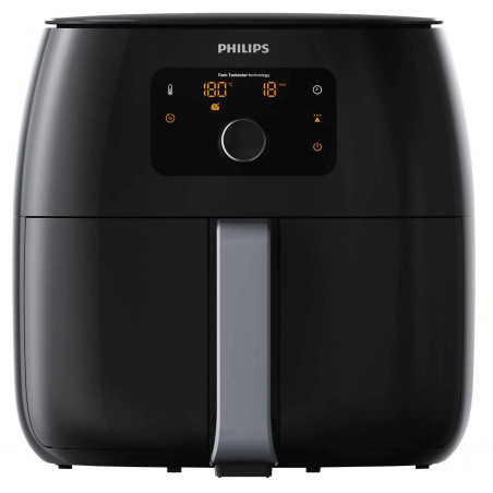 Friteuza fara ulei Philips Airfryer XXL HD9650 Twin TurboStar 1.4 kg display digital Black Philips - 1
