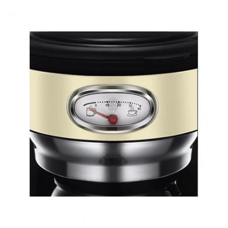 Cafetiera Russell Hobbs Retro Vintage Cream 21702-56 1000 W 1,25 l Tehnologie avansata cu dus Brown Inox Russell Hobbs - 1