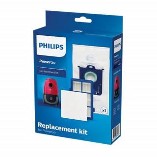 Kit de schimb pentru PowerGo FC8001/01 1 sac de praf (s-bag CLP) 1 filtru anti-alergeni 1 filtru de admisie pentru motor Philips